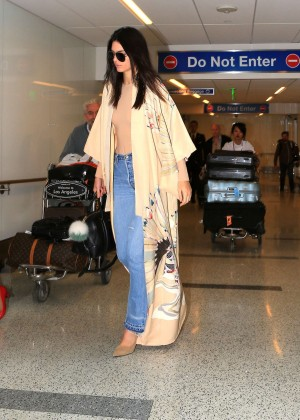 Kendall Jenner in Jeans at LAX airport in LA