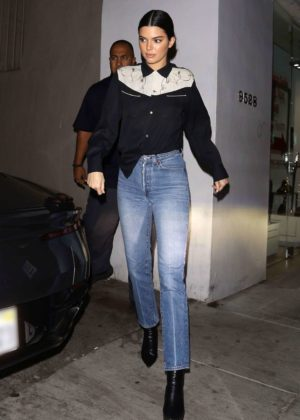 Kendall Jenner in Jeans Out in Beverly Hills