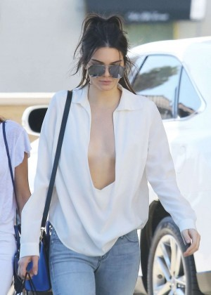 Kendall Jenner in Jeans out in Los Angeles