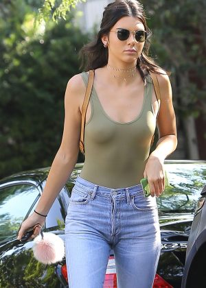 Kendall Jenner in Jeans Out in West Hollywood