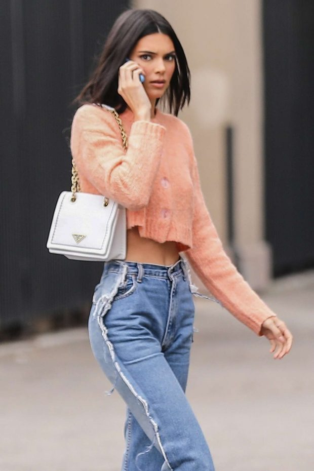 Kendall Jenner in Jeans - Out in West Hollywood