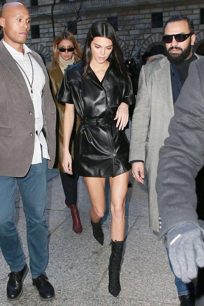 Kendall Jenner 2019 : Kendall Jenner in Leather Mini Dress -03