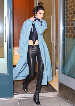 Kendall Jenner in Long Coat out in New York