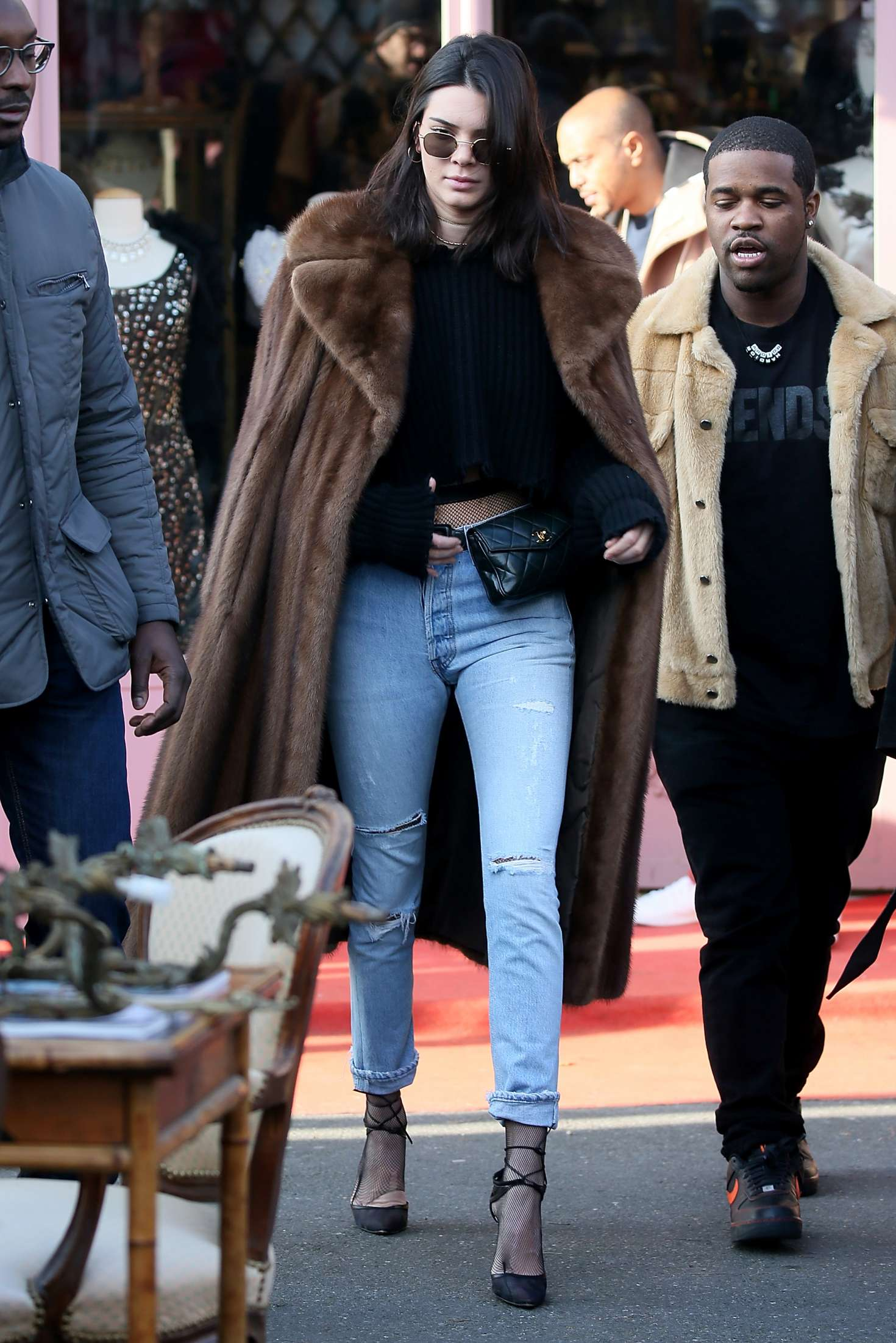 af782a41ed0e Back to post Kendall Jenner in Long Fur Coat out in Paris