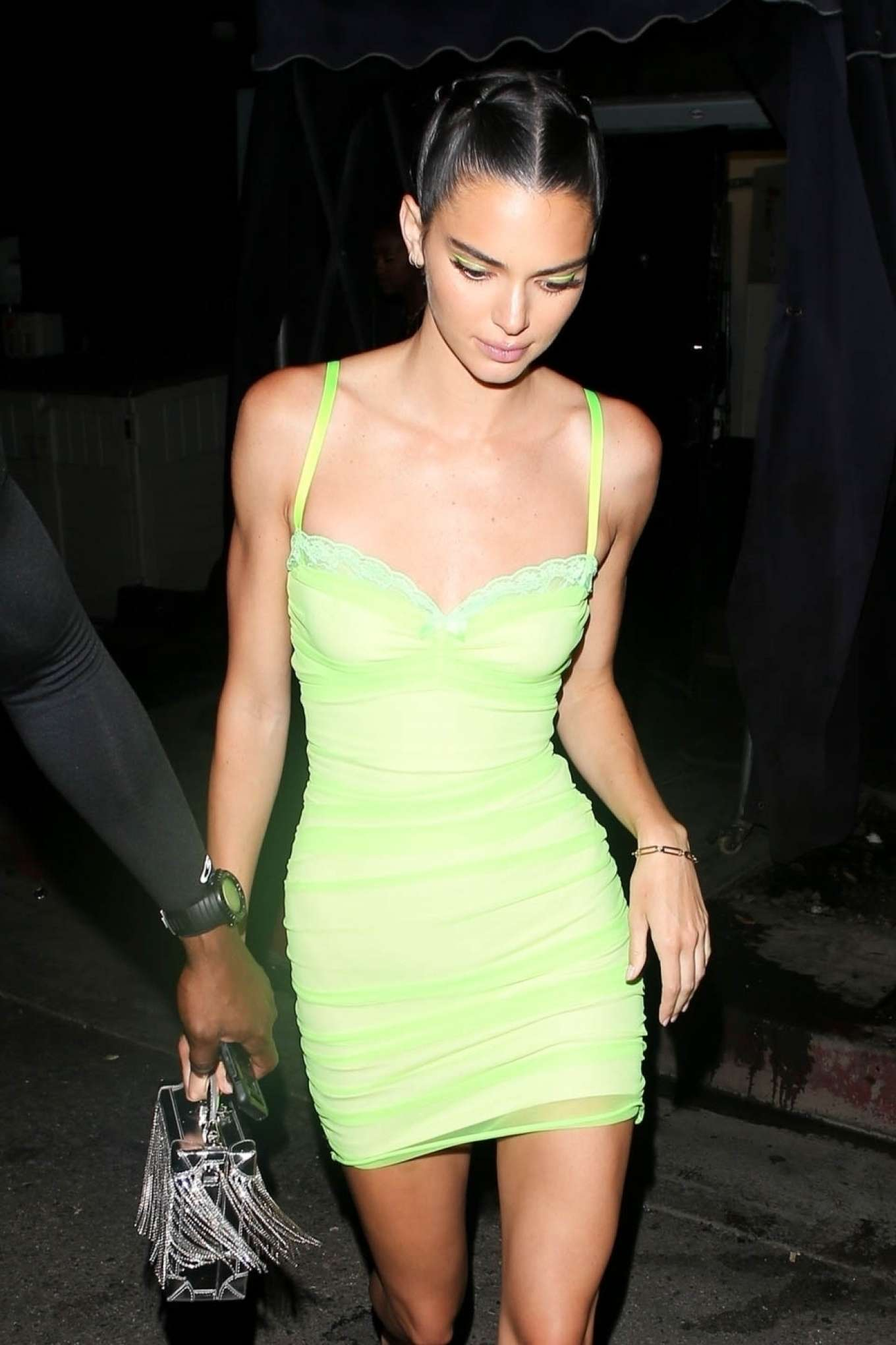 Kendall Jenner in Mini Dress - Leaving the Nice Guy in West Hollywood