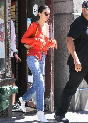 Kendall Jenner in Red out in NYC
