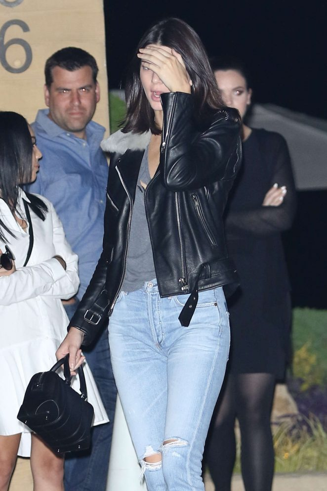 Kendall Jenner in Ripped Jeans at Nobu in Malibu