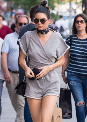 Kendall Jenner in Shorts out in New York City