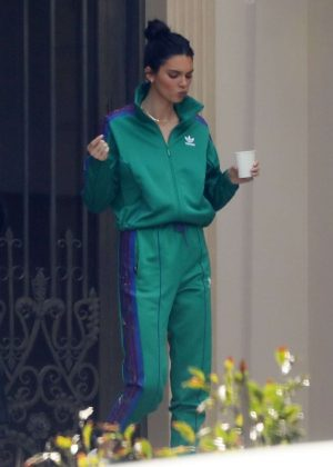 Kendall Jenner in Sweat Suit - Out in Los Angeles