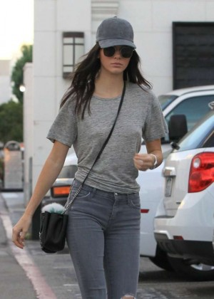 Kendall Jenner in Tight Jeans -01