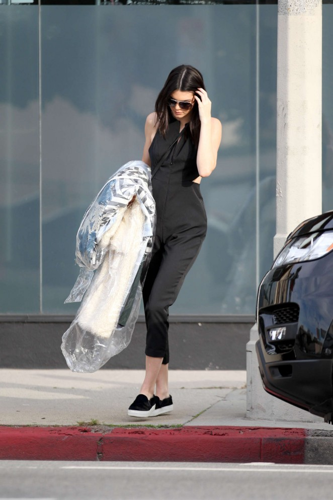 Kendall Jenner in Tight Pants Out in West Hollywood