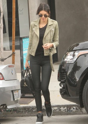 Kendall Jenner in Tights at Urth Caffe in West Hollywood