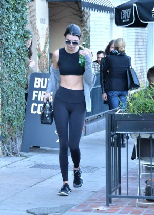 Kendall Jenner in Tights and Sports Bra -08