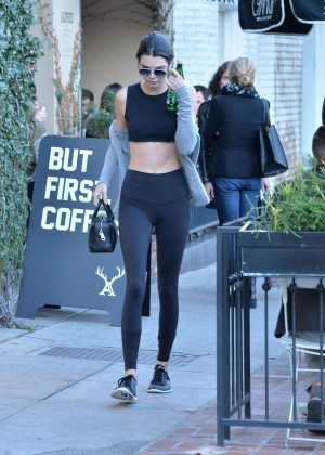 Kendall Jenner in Tights and Sports Bra -14
