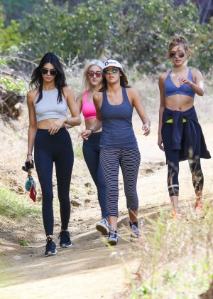 Kendall Jenner in Tights out for a hike -09