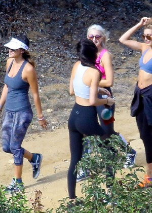 Kendall Jenner in Tights out for a hike -12