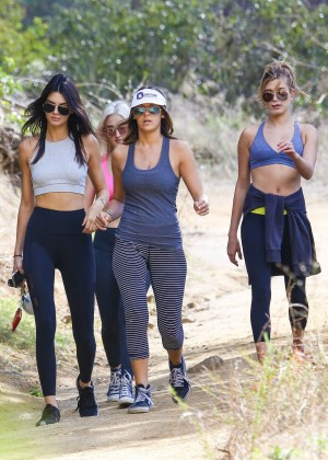 Kendall Jenner in Tights out for a hike -14