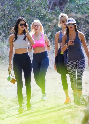 Kendall Jenner in Tights out for a hike -16