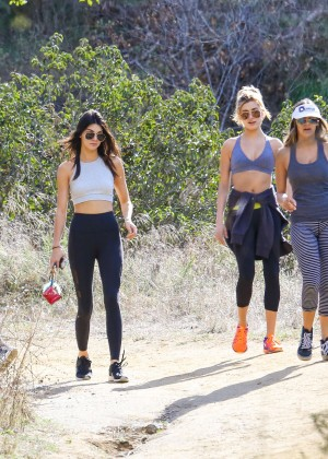 Kendall Jenner in Tights out for a hike -29