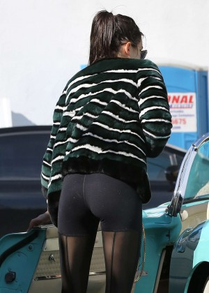 Kendall Jenner in Tights out in Los Angeles