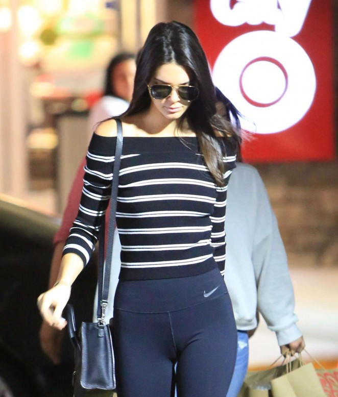Kendall Jenner in Tights Shopping at Target in LA