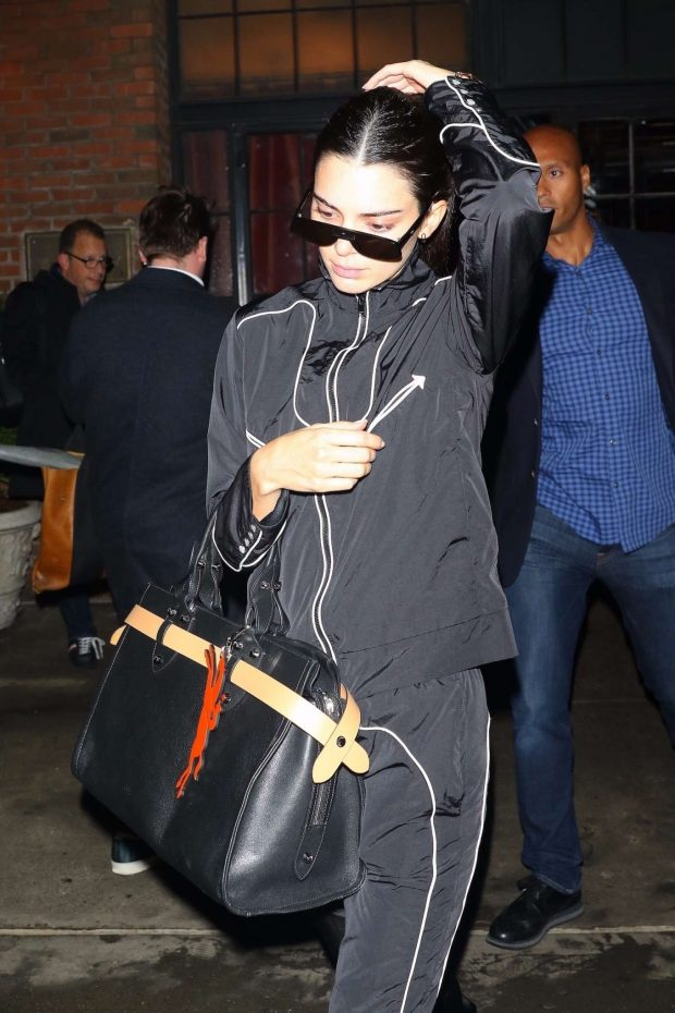 Kendall Jenner in Tracksuit - Leaving The Bowery Hotel in New York