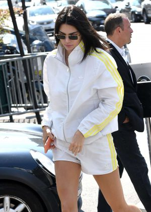 Kendall Jenner in White - Out in Paris
