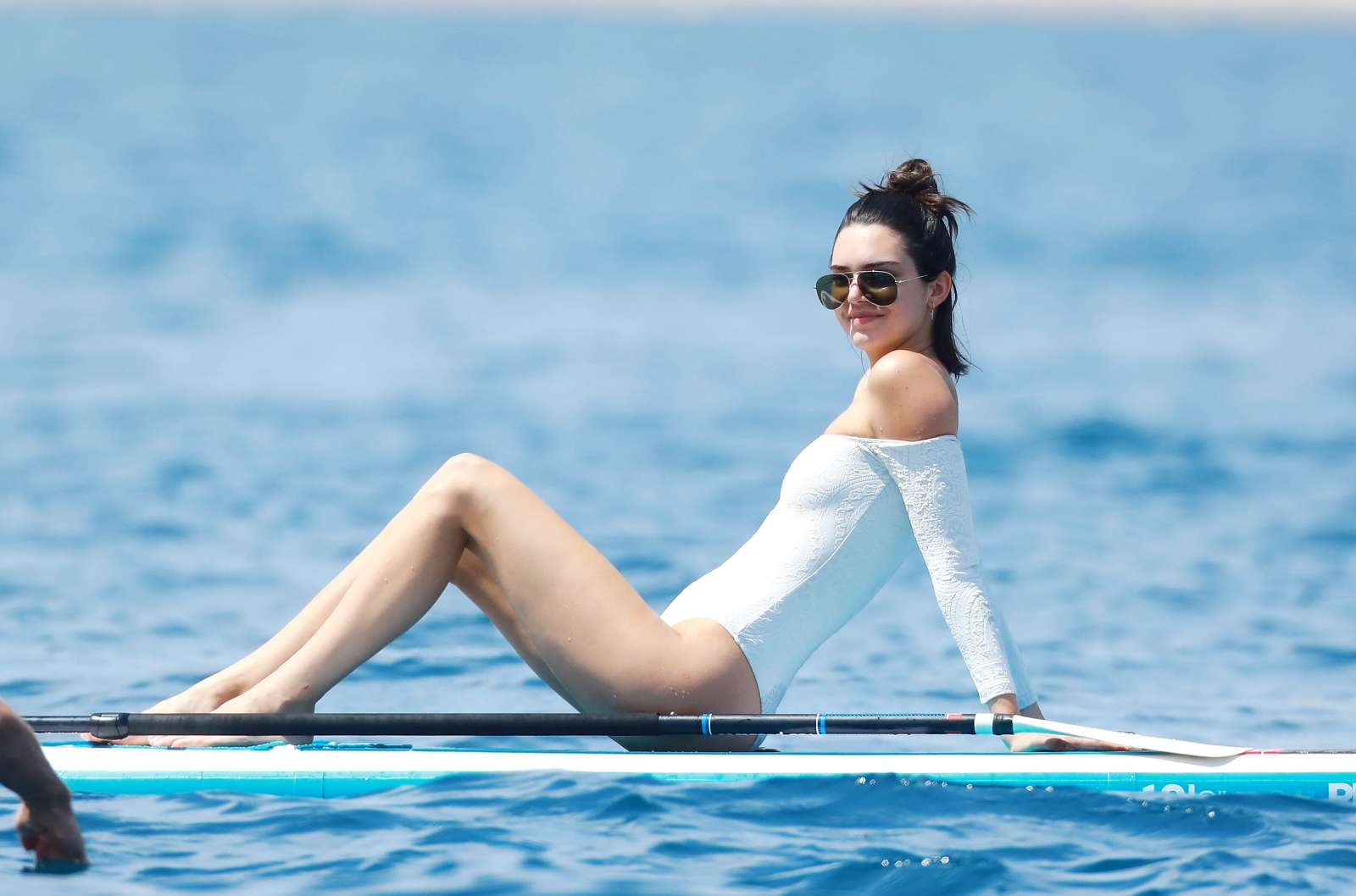 3871bd3ccbfca Kendall Jenner in White Swimsuit -74 | GotCeleb
