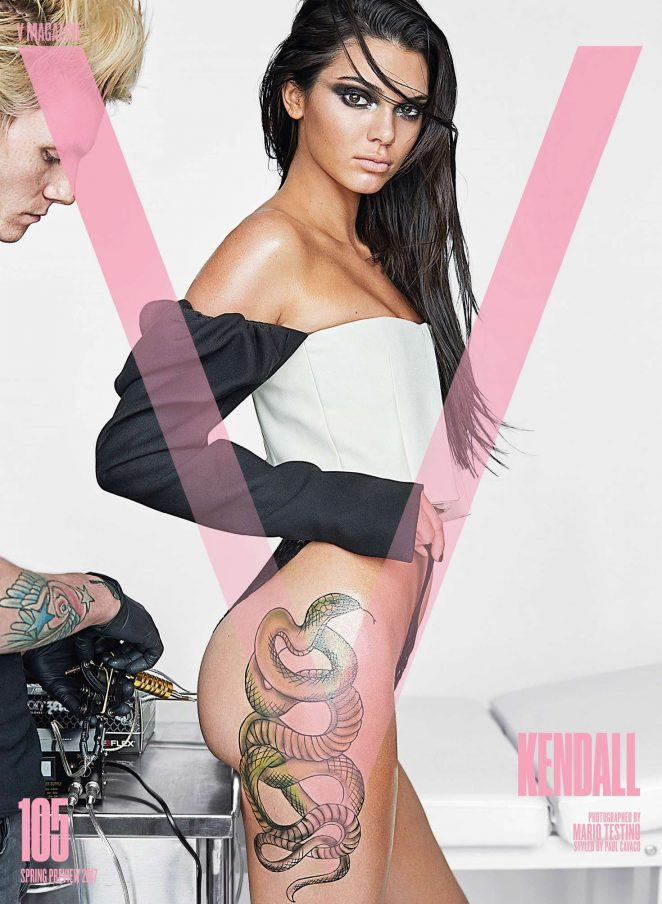 Kendall Jenner - Inked For V Magazine (January 2017)