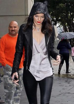 Kendall Jenner and Khloe Kardashian at Staples Center -06