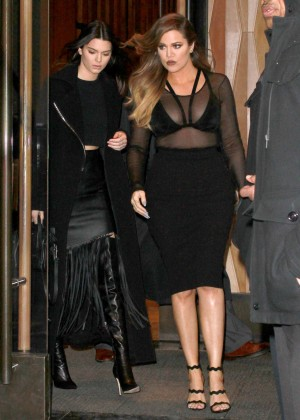 Kendall Jenner & Khloe Kardashian - Leaving the Trump Hotel in NYC