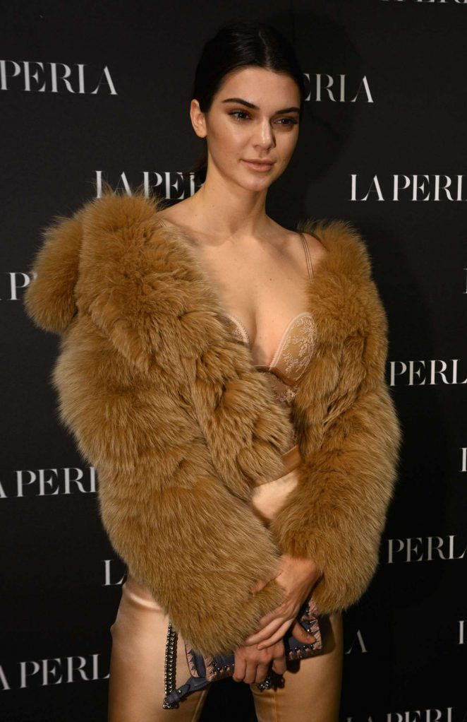 Kendall Jenner - La Perla Show Room Opening in Milan