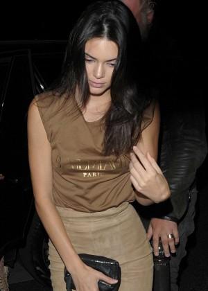 Kendall Jenner - Le Six Seven Nightclub in Paris