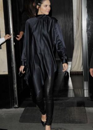 Kendall Jenner - Leaves Kinu Restaurant in Paris