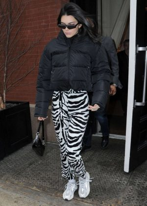Kendall Jenner - Leaves Mercer Hotel in NYC