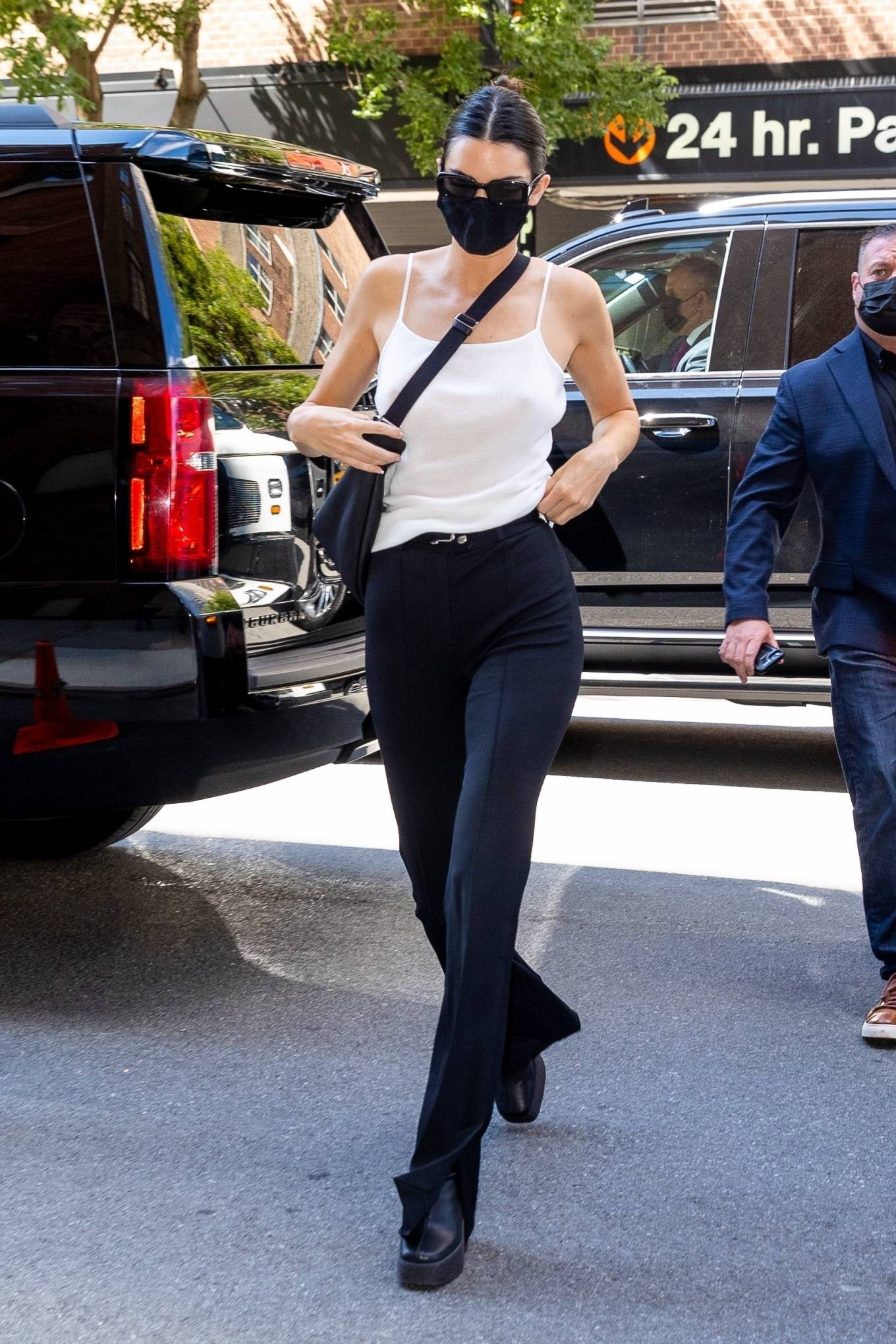 Kendall Jenner - Leaves Michael Kors show in Central Park during New York Fashion Week