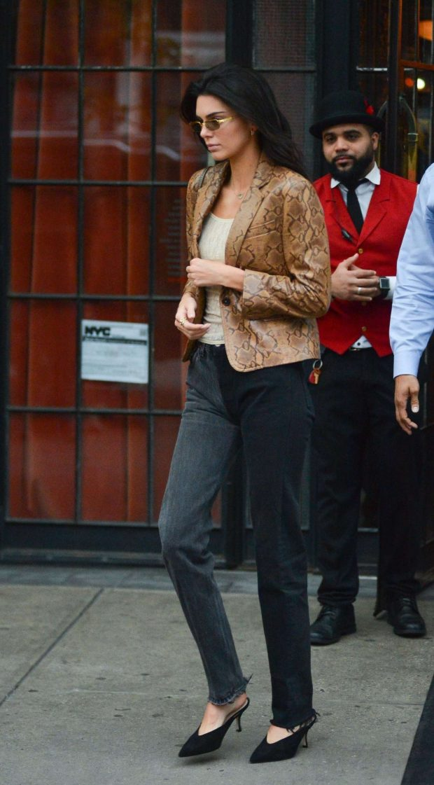Kendall Jenner: Leaves The Bowery Hotel in New York -01