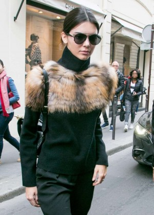 Kendall Jenner - Leaves The 'Chanel' Cambon Building in Paris