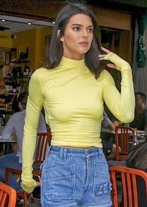 Kendall Jenner - Leaving Bar Pitti Restaurant in New York