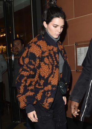 Kendall Jenner Leaving C Restaurant in Mayfair