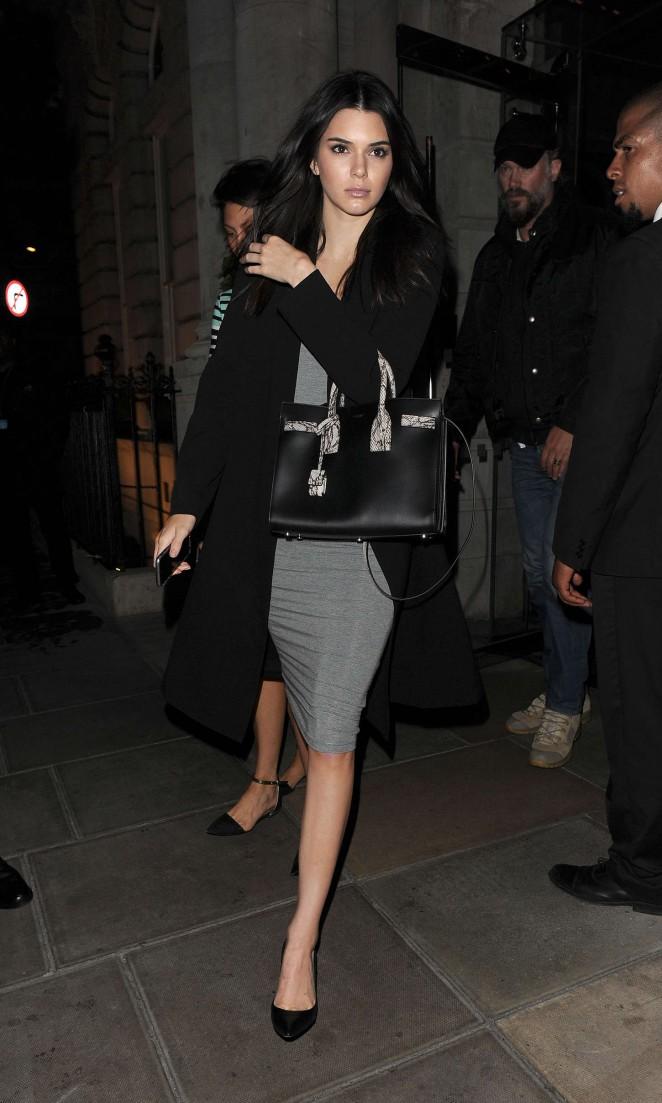Kendall Jenner: Leaving her hotel -04