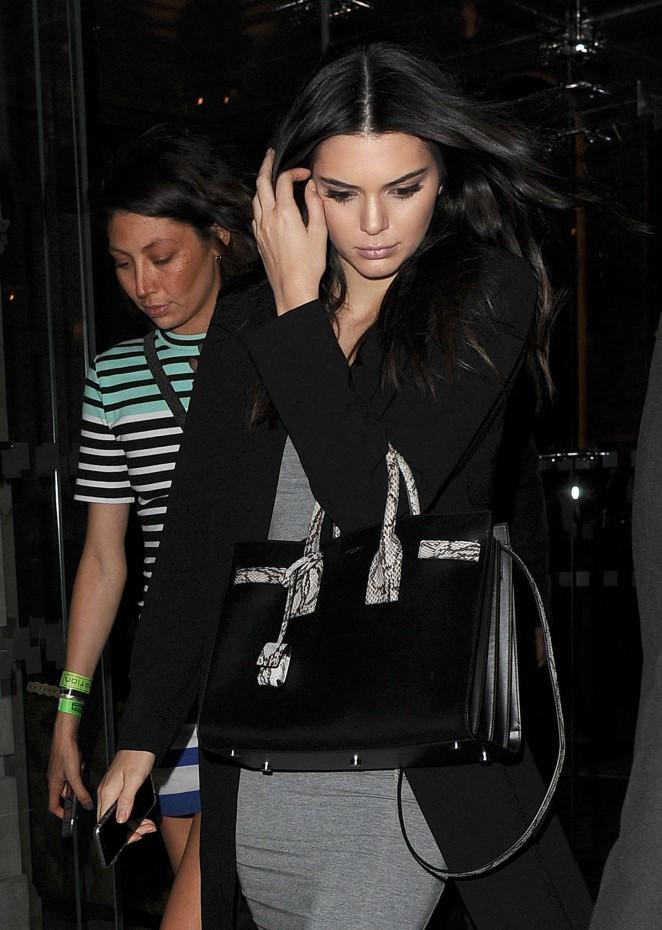 Kendall Jenner: Leaving her hotel -06