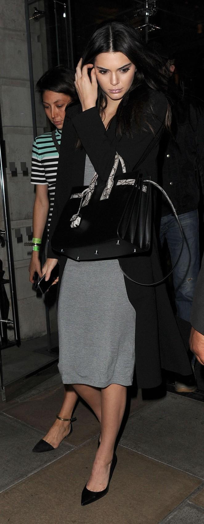 Kendall Jenner: Leaving her hotel -12