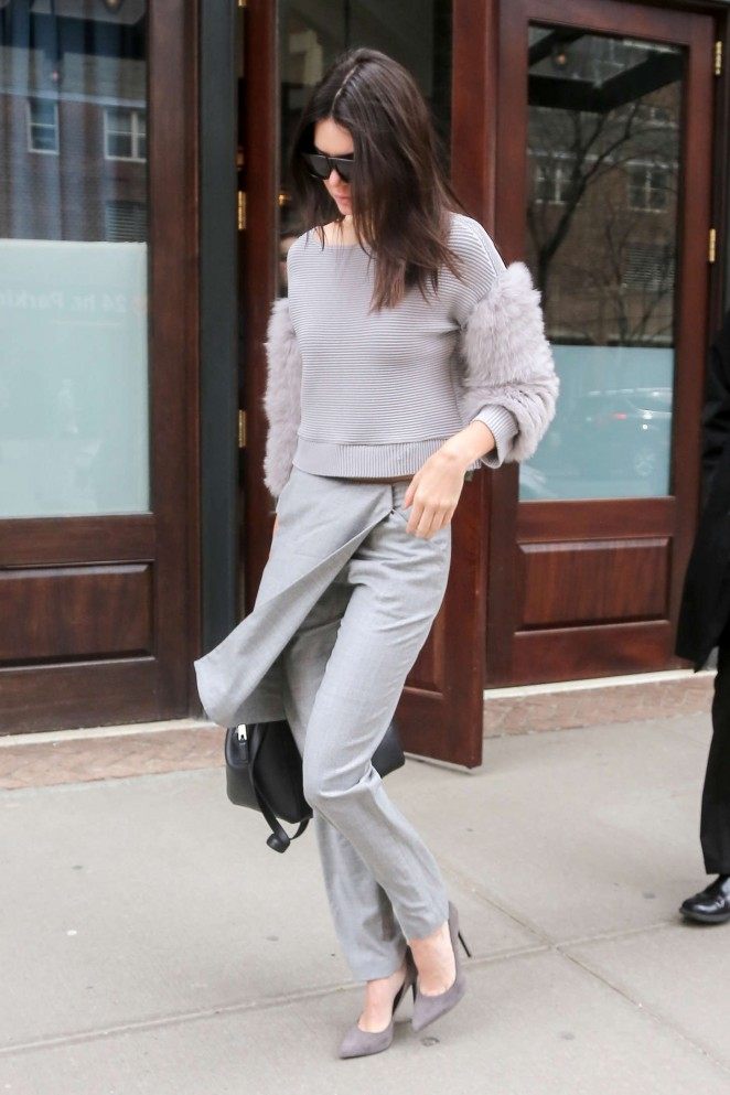 Kendall Jenner - Leaving her hotel in NYC
