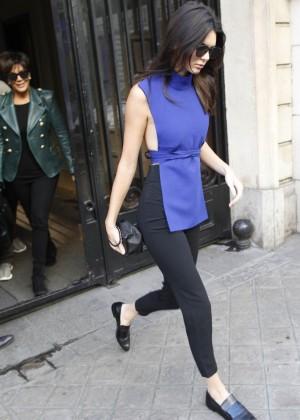 Kendall Jenner Hot in Paris -16