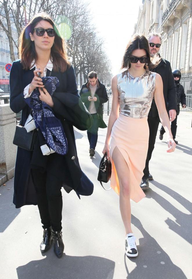 Kendall Jenner in Tight Skirt -14