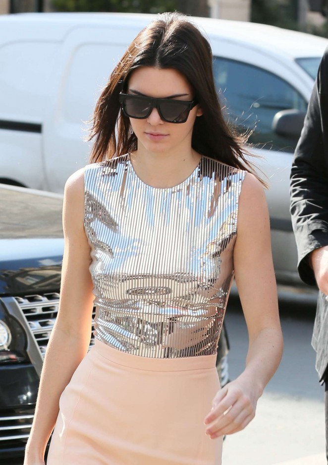 Kendall Jenner 2015 : Kendall Jenner in Tight Skirt -17
