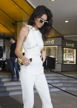 Kendall Jenner - Leaving JW Marriott Hotel in Cannes