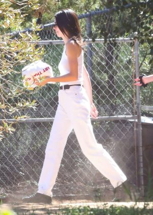 Kendall Jenner - Leaving Kanye West's church service in Los Angeles