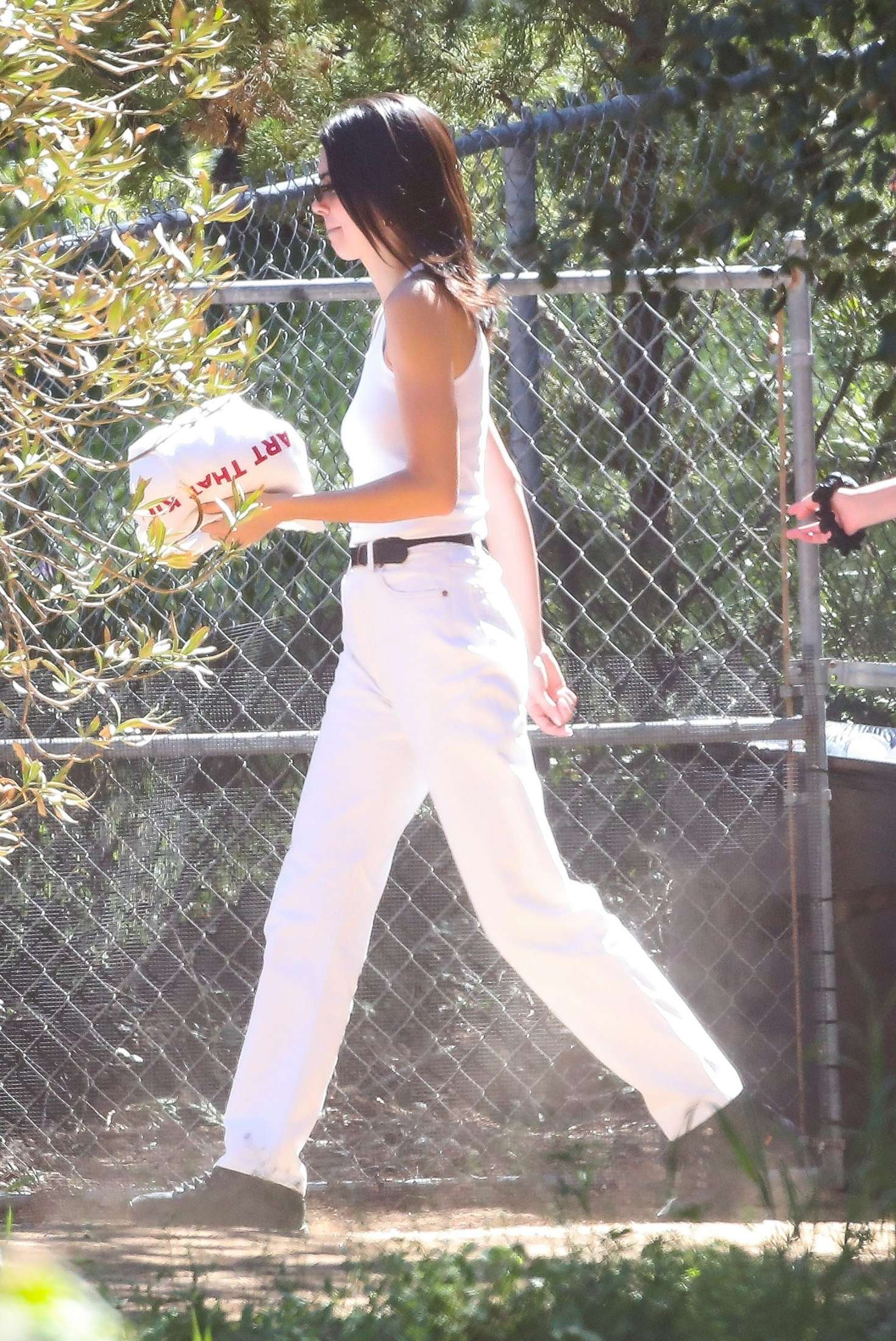 Kendall Jenner 2019 : Kendall Jenner: Leaving Kanye Wests church service -01